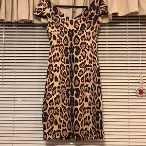 Calvin Klein Animal Print Sexy Dress